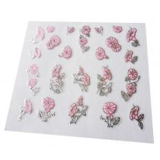 "Наклейки на самоклеющейся основе ""Pink Flower"" 3D NR13"