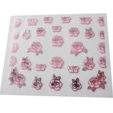 "Наклейки на самоклеющейся основе ""Pink Flower"" 3D NR03"