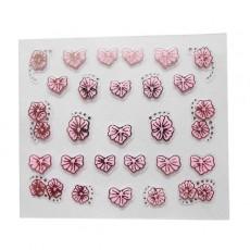 "Наклейки на самоклеющейся основе ""Pink Flower"" 3D NR24"