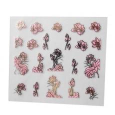 "Наклейки на самоклеющейся основе ""Pink Flower"" 3D NR15"