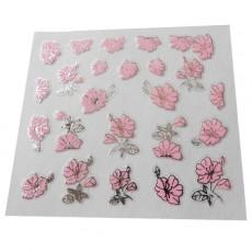 "Наклейки на самоклеющейся основе ""Pink Flower"" 3D NR05"