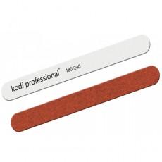 Пилка для ногтей Прямая Kodi (White Brown) 180/240