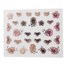 "Наклейки на самоклеющейся основе ""Pink Flower"" 3D NR16"