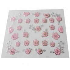 "Наклейки на самоклеющейся основе ""Pink Flower"" 3D NR06"