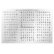 Большая печатная форма Konad № 1