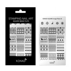 Мини пластина для стемпинга Konad Square Image Plate 30