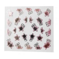 "Наклейки на самоклеющейся основе ""Pink Flower"" 3D NR17"