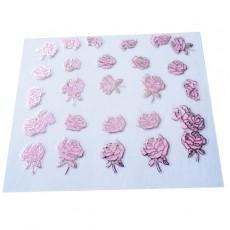 "Наклейки на самоклеющейся основе ""Pink Flower"" 3D NR07"