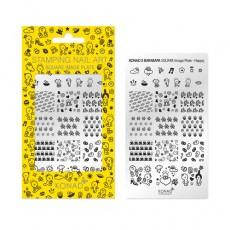 Мини пластина для стемпинга Konad Square Image Plate Happy (X BARABAPA)