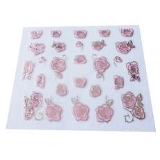 "Наклейки на самоклеющейся основе ""Pink Flower"" 3D NR08"