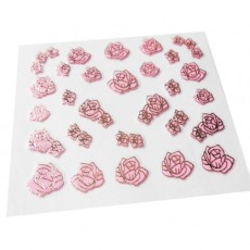 "Наклейки на самоклеющейся основе ""Pink Flower"" 3D NR01"