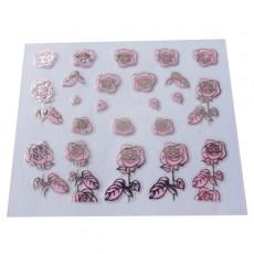 "Наклейки на самоклеющейся основе ""Pink Flower"" 3D NR10"
