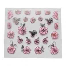 "Наклейки на самоклеющейся основе ""Pink Flower"" 3D NR20"