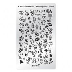 Мини пластина для стемпинга Konad Square Image Plate Twikle (X BARABAPA)