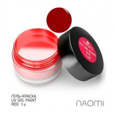 Naomi UV Gel Paint Red 5g