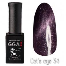 """GGA prof Gel Polish """"Cats Eye"""" №34"""