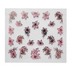 "Наклейки на самоклеющейся основе ""Pink Flower"" 3D NR21"