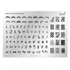 "Средняя стемпинг пластина Konad ""Image Plate"" 01"