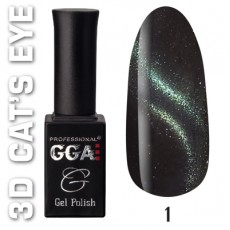 "GGA prof Gel Polish ""3D Cats Eye"" 01"