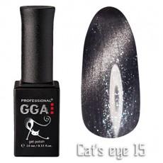 """GGA prof Gel Polish """"Cats Eye"""" №15"""