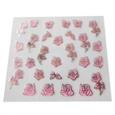 "Наклейки на самоклеющейся основе ""Pink Flower"" 3D NR12"